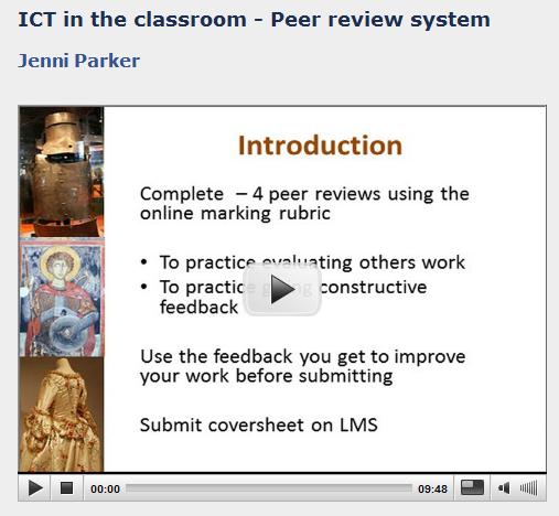 Peer-review video image