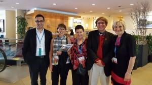 Photo of George, Jenni, Nellie, Curtis, Mila at edmedia Conference 2016